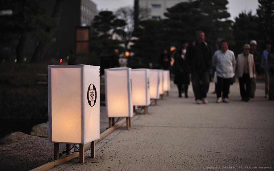 松本城の路