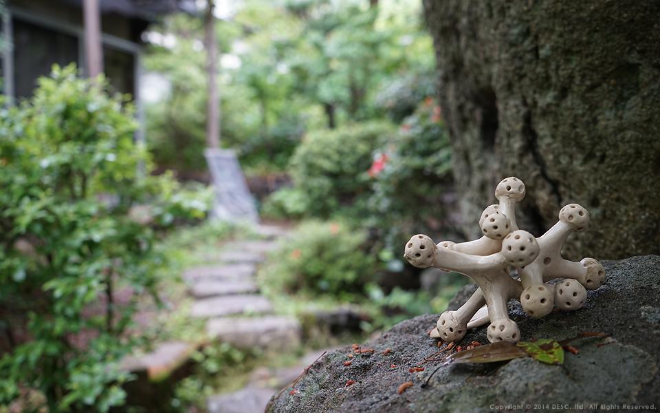 【浅間温泉街】ギャラリーゆこもり_庭のオブジェ